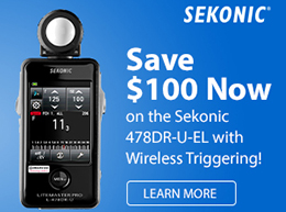 Sekonic 478DR-U-EL with Wireless Triggering - Save $100 Now