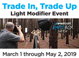 Trade In, Trade Up Light Modifier Event from March 1 to May 2, 2019 at Arlington Camera