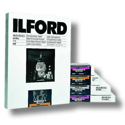 Ilford Multigrade IV RC Deluxe Glossy 8x10 Paper, 25 Pages