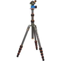 3 Legged Thing Punks Brian Carbon Fiber Travel Tripod with Airhed Neo Ball Head (Gray and Blue with Copper Accents)