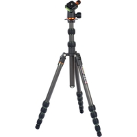 3 Legged Thing Punks Brian Carbon Fiber Travel Tripod with Airhed Neo Ball Head (Matte Black with British Racing Green Accents)