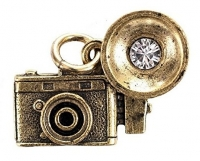 Beaucoup Designs Camera Flash Charm, Gold