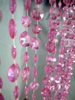 StudioProps Beaded Curtain - Pink
