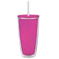 Slant Collections 22oz Travel Tumbler - Bright Pink