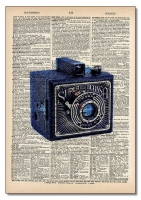 Vintage Dictionary Art 8x10' Print - Altissa Camera