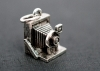 Beaucoup Designs Camera Bellows Silver Charm