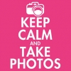 Keep Calm and Take Photos T-Shirt - Hot Pink