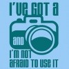 I've Got a Camera and I'm Not Afraid to Use It T-Shirt - Blue