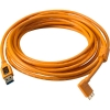 Tether Tools USB 3.0 Type-A Male to Micro-USB Right-Angle Male Cable, 15' Orange
