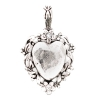 Beaucoup Designs Aimez Charm Silver Heart with Crystals