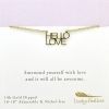 "Lucky Feather ""Hello Love"" Gold Necklace"
