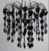 StudioProps Acrylic Crystal Chandelier - Black
