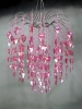 StudioProps Acrylic Crystal Chandelier - Pink, Large
