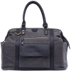 Kelly Moore Bag Jude Bag - Gray Canvas/Black Trim