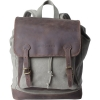 Kelly Moore Bag Pilot Backpack - Sand Canvas/Brown Trim