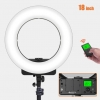 Geekoto LR-18W Ring Light with Wireless Remote Control and LCD Display