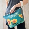 Natural Life Canvas Carryall - Stop and Smell the Flowers