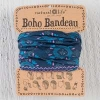 Natural Life Boho Bandeau - Navy with Pink Turquoise Diamonds