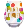 Slant Collections Wine Glass - Party Time