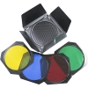 Phottix Indra Barndoors, Grid and Gel Set (for 7 reflectors)