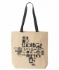 I Love Texas Photo Cameras of Texas Tote - Black