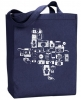 I Love Texas Photo Cameras of Texas Tote - Navy