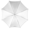 "Westcott 43"" Optical White Satin Collapsible Umbrella"