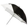 "Westcott 43"" Optical White Satin  Collapsible Umbrella with Removable Black Cover"