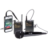 Azden WMS-PRO+i VHF Camera-Mount Wireless Omni Lavalier Microphone System with Handheld Mic